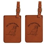 Olde English Bulldogge Puppy Luggage Tag 2 Pack L3628