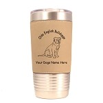 3628 Olde English Bulldogge Sitting #1 20 oz Polar Camel Tumbler with Lid Personalized with Your Dog's Name