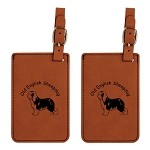 Old English Sheepdog Luggage Tag 2 Pack L3636