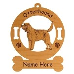 3645 Otterhound Standing #2 Ornament Personalized with Your Dog's Name