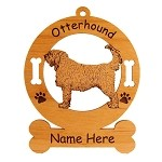 3647 Otterhound Standing #3 Ornament Personalized with Your Dog's Name