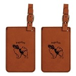Papillon Standing Luggage Tag 2 Pack L3655