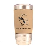 3655 Papillon Standing #1 20 oz Polar Camel Tumbler with Lid Personalized with Your Dog's Name