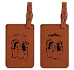 Papillon Head Luggage Tag 2 Pack L3657