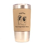 3657 Papillon Head #1 20 oz Polar Camel Tumbler with Lid Personalized with Your Dog's Name
