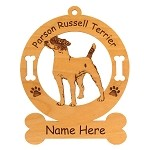 3669 Parsons Terrier Standing Ornament Personalized with Your Dog's Name