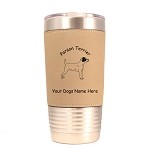 3670 Parson Terrier Standing #1 20 oz Polar Camel Tumbler with Lid Personalized with Your Dog's Name