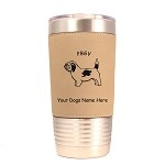 3688 PBGV Standing #1 20 oz Polar Camel Tumbler with Lid Personalized with Your Dog's Name