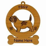3688 Petit Basset Griffon Vendeen Standing Ornament Personalized with Your Dog's Name