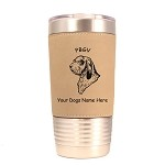 3689 PBGV Head #1 20 oz Polar Camel Tumbler with Lid Personalized with Your Dog's Name