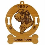 3689 Petit Basset Griffon Vendeen Head Ornament Personalized with Your Dog's Name