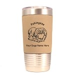 3699 Pekingese Standing #1 20 oz Polar Camel Tumbler with Lid Personalized with Your Dog's Name