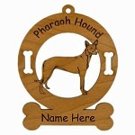 3706 Pharaoh Hound Standing Ornament Personalized with Your Dog's Name