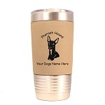 3707 Pharaoh Hound Head #1 20 oz Polar Camel Tumbler with Lid Personalized with Your Dog's Name