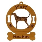 3711 Plott Hound Brindle Standing Ornament Personalized with Your Dog's Name