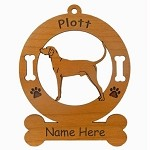 3712 Plott Hound Standing #2 Ornament Personalized with Your Dog's Name