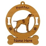 3715 Pointer Standing Ornament Personalized with Your Dog's Name