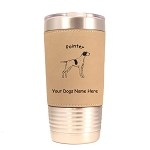 3715 Pointer Standing #1 20 oz Polar Camel Tumbler with Lid Personalized with Your Dog's Name