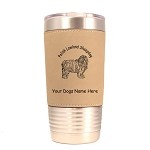 3725 Polish Lowland Sheepdog Standing #1 20 oz Polar Camel Tumbler with Lid Personalized with Your Dog's Name