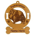 3734 Pomeranian Standing Ornament Personalized with Your Dog's Name