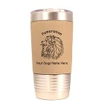 3735 Pomeranian Head #1 20 oz Polar Camel Tumbler with Lid Personalized with Your Dog's Name