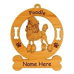 3746 Standard Poodle Standing #2 Ornament Personalized with Your Dog's Name
