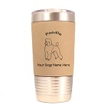 3747 Poodle Standing #1 20 oz Polar Camel Tumbler with Lid Personalized with Your Dog's Name
