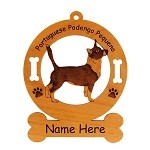 3751 Portuguese Podengo Pequeno Standing #2 Ornament Personalized with Your Dog's Name