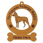 3752 Portuguese Podengo Medio Ornament Personalized with Your Dog's Name