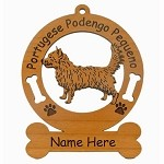 3753 Portuguese Podengo Pequeno Ornament Personalized with Your Dog's Name