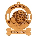 3755 Pudelpointer Head Ornament Personalized with Your Dog's Name