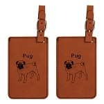 Pug Standing Luggage Tag 2 Pack L3759