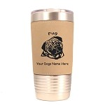 3760 Pug Head #1 20 oz Polar Camel Tumbler with Lid Personalized with Your Dog's Name
