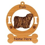 3768 Puli Standing Ornament Personalized with Your Dog's Name