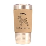 3771 Pumi Standing #1 20 oz Polar Camel Tumbler with Lid Personalized with Your Dog's Name