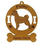 3771 Pumi Standing Ornament Personalized with Your Dog's Name