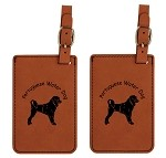 PWD Portuguese Water Dog #1 Head Luggage Tag 2 Pack L3791