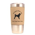 3791 Portuguese Water Dog Standing #1 20 oz Polar Camel Tumbler with Lid Personalized with Your Dog's Name