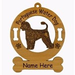 3792 Portuguese Water Dog Standing #2 Ornament Personalized with Your Dog's Name