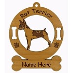 3804 Rat Terrier Standing Ornament Personalized with Your Dog's Name