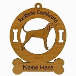 3812 Redbone Coonhound Standing Ornament Personalized with Your Dog's Name