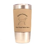 3812 Redbone Coonhound Standing Dog Standing #1 20 oz Polar Camel Tumbler with Lid Personalized with Your Dog's Name