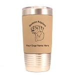 3822 Rhodesian Ridgeback Head #1 20 oz Polar Camel Tumbler with Lid Personalized with Your Dog's Name