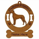 3823 Rhodesian Ridgeback Standing Ornament Personalized with Your Dog's Name