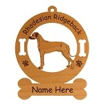 3824 Rhodesian Ridgeback Standing #2 Ornament Personalized with Your Dog's Name