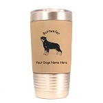 3832 Rottweiler Standing #1 20 oz Polar Camel Tumbler with Lid Personalized with Your Dog's Name