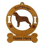 3833 Rottweiler Standing 2 Ornament Personalized with Your Dog's Name