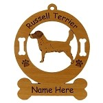 3841 Russell Terrier Standing Ornament Personalized with Your Dog's Name