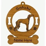 3846 Saluki Standing Ornament Personalized with Your Dog's Name