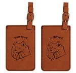 Samoyed Head  Luggage Tag 2 Pack L3854